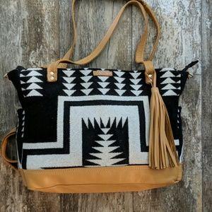 Pendleton leather weekender bag